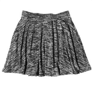 Gray & Black Skater Skirt